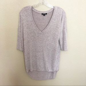 EXPRESS High Low V Neck Dolman Sweater